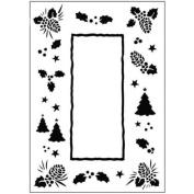 Crafts-Too Embossing Folder 10cm x 15cm -Christmas Trees