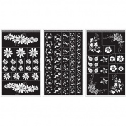 Armour Products Rub 'n' Etch Glass Etching Stencils 13cm x 20cm 3/Pkg Floral Designs 12-7024