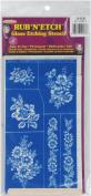 Rub 'N' Etch Glass Etching Stencils 13cm x 20cm 1/Pkg - Floral 8