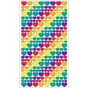 Sticko Classic Stickers-Metallic Rainbow Hearts