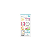 Take Note Doodles Cardstock Stickers 7.6cm x 17cm Sheet-Seals