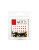 American Crafts Elements Mini Glitter Brads, Primaries