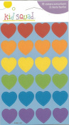 Bright Colour Hearts Scrapbook Stickers
