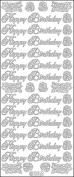 Elizabeth Craft Designs Happy Birthday Large Peel Off Stickers 4x9 Sheet