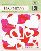 K & Company Foam Glitter Stickers, Smooch Heart
