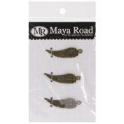 Maya Road VF2470 Metal Antique Angel Wings Scrapbooking Charm Embellishments