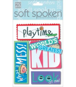 Me & My Big Ideas Soft Spoken 3 Dimensional Embellishments-Kid's Playtime