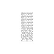 Elizabeth Craft Designs - Thank You Peel Off Stickers 10cm x 23cm Sheet