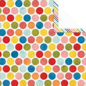Colour Me Happy Double-Sided Heavy-Weight Paper 30cm x 30cm -Polka 25 per pack