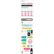 Love & Marriage Miniatures Cardstock Stickers-Wedding Day