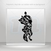 Decal Stickers Tribal Wolf Attack car helmet window bike Garage door 0502 RS246