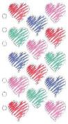 Crayon Hearts Scrapbook Stickers