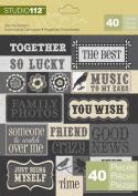 K & Company Studio 112 Die-cut Stickers, Sayings