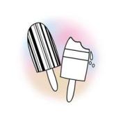 Imaginisce Snag Em Stamp - Popsicle Clear Stamp
