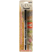 Le Pen Permanent Extra Fine Point (Alcohol Based) Carded-Black