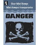 Inkadinkado Clear Mini Stamps, Skull Flag