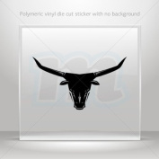 Decals Sticker Bull Head car window bike ATV jet-ski Garage door 0502 W9267