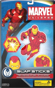 Marvel Slap Sticks Iron Man Reusbale Gel Stickers, 13cm Character and 3 6.4cm Icons