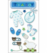 Jolees Layered Foam Stickers, Baby Boy