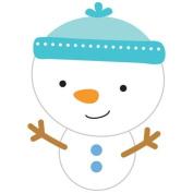 Doodle-Pops Embellished Dimensional Cardstock Stickers-Snowman