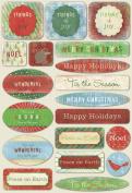 Karen Foster Design Acid and Lignin Free Scrapbooking Sticker Sheet, Tidings of Joy