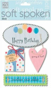 Soft Spoken 3-D Embellishments-Happy Birthday