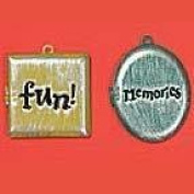 Journaling Metal Embellishments-Lockets Fun/Memories