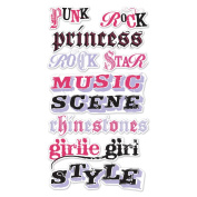 EK Success Mixed Media Dimensional Stickers - Punk Rocker