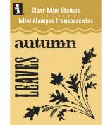 Inkadinkado Clear Mini Stamps, Autumn Corner