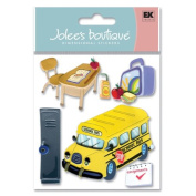 Jolee's Boutique Dimensional Stickers, School Bus
