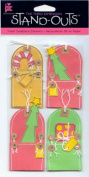 Standouts 3-D Paper Sculpture Stickers Christmas Pocket Tags Theme