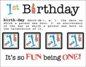 SRM Stickers Say It with Stickers Mini lst Birthday Scrapbooking