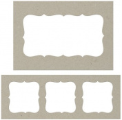 Fabscraps Die-Cut Grey Chipboard Embellishments, Journal Frames