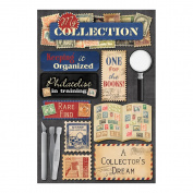 Karen Foster Design Acid and Lignin Free Scrapbooking Sticker Sheet, Stamp Collecting