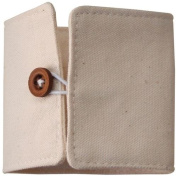 Alterable Canvas Cuff With Elastic Loop & Button-18cm x 6.6cm Flat, 6.1cm Diameter Buttoned