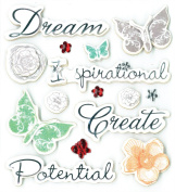 K & Company Inspirational Sentiments Grand Adhesions Stickers