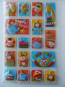 17 HAPPY BIRTHDAY Pop-up Stickers for 3-dimensional Effect