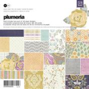 BasicGrey Plumeria 15cm by 15cm Paper Pad