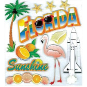 Jolee's Boutique Dimensional Stickers-Florida