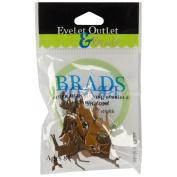 Eyelet Outlet Shape Brads-Deer 12/Pkg
