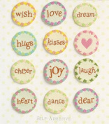 K and Company - Circle Words Stitched Tags