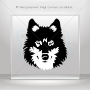 Sticker Decal Wolf Head car window bike ATV jet-ski Garage door 0500 RS22W