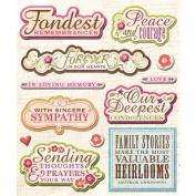 K & Company Inspirational Words Sticker Medley
