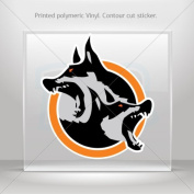 Sticker Decals Wolf Head car window bike ATV jet-ski Garage door 0500 RS228