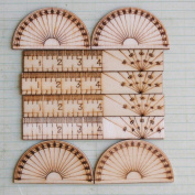 Measure Once, Cut Twice Wood Embellishments 10/Pkg-3.8cm To 7.6cm