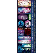 Signature Series 2012 Cardstock Combo Stickers 11cm x 30cm -Party