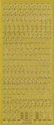Deco Stickers - Calligraphy Alphabet/Upper Case - gold