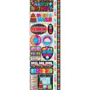 Signature Series 2012 Cardstock Combo Stickers 11cm x 30cm -Happy Birthday