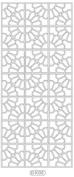 Deco Stickers - Flower Squares gold