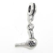 """Jewellery Monster Antique Finish """"Dangling Hairdryer"""" Charm Bead for Snake Chain Charm Bracelet"""